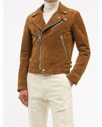 Tom Ford スエード ライダースジャケット - ブラウン