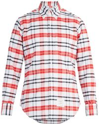 Thom Browne - Checked Cotton Shirt - Lyst