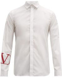 Valentino - Go Logo Cotton Poplin Shirt - Lyst