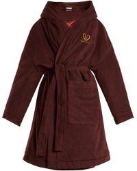 Vetements | Tie-waist Wool-blend Fleece Robe Coat | Lyst