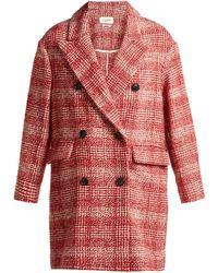 Étoile Isabel Marant - Ebra Double Breasted Wool Blend Coat - Lyst