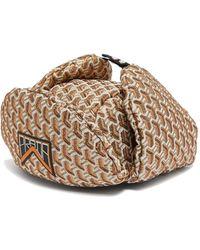 Prada Twist Jacquard Brocade Trapper Hat - Metallic