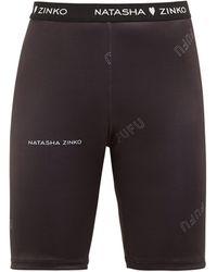 Natasha Zinko Logo-jacquard Technical Jersey Shorts - Black