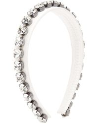 Christopher Kane Crystal-embellished Headband - White