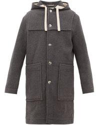 Acne Studios Orvon Hooded Wool-blend Parka - Gray