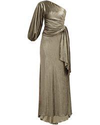 Maria Lucia Hohan Amaris ワンショルダー ベルベットドレス - マルチカラー