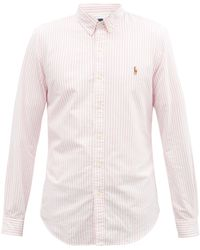 Polo Ralph Lauren ストライプ コットンオックスフォードシャツ - ピンク