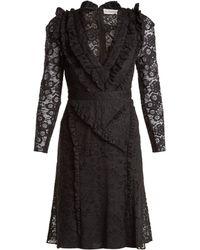 Altuzarra Robe volantée en dentelle Valencienne Ourika - Noir