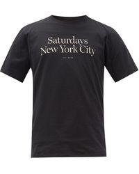 Saturdays NYC - ミラー ロゴ コットンtシャツ - Lyst