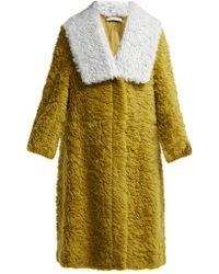Vika Gazinskaya - Contrast Collar Faux Fur Coat - Lyst