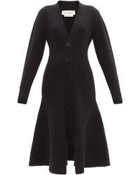 Alexander McQueen - Peplum-hem Wool-blend Cardigan Dress - Lyst