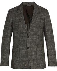 Ermenegildo Zegna - Single Breasted Checked Wool Blend Blazer - Lyst