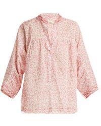 MASSCOB - Floral-print Cotton Top - Lyst