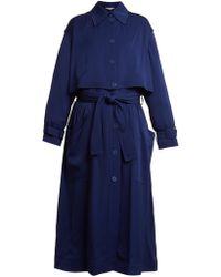 Stella McCartney - Caban Elasticated-waist Crepe Trench Coat - Lyst
