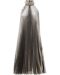 Andrew Gn クリスタルカラー シルクブレンド プリーツドレス - マルチカラー