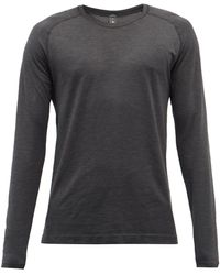 lululemon athletica Metal Vent 2.0 Silverescent®-mesh Long-sleeved Top - Black