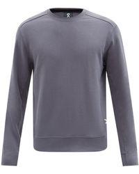 On Sweat-shirt en jersey de cot à coutures roulées - Gris