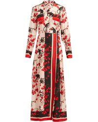 F.R.S For Restless Sleepers - Fedra Monkey Print Jacquard Maxi Dress - Lyst
