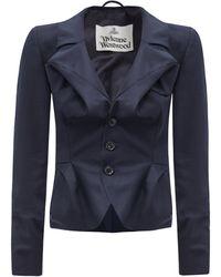 Vivienne Westwood - ドレープ ウール シングルジャケット - Lyst