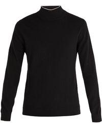 Altea - Intarsia-stripe Roll-neck Wool Jumper - Lyst