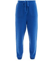 The Elder Statesman Drawstring-waist Cashmere Track Trousers - Blue