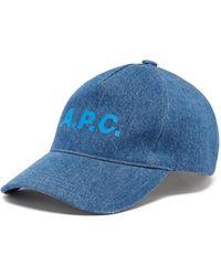A.P.C. エデン デニム ベースボールキャップ - ブルー