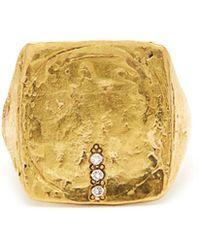 Orit Elhanati London Diamond & 18kt Gold Ring - Metallic