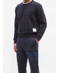 Thom Browne トリコロール コットンスウェットシャツ - ブルー