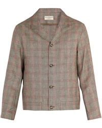 Éditions MR - Bonaparte Checked Linen-blend Jacket - Lyst