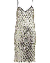 N°21 Jersey Lined Sequin Dress - Metallic