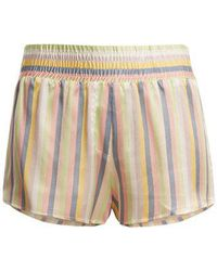 Morgan Lane Corey Striped Silk Pyjama Shorts - Multicolour