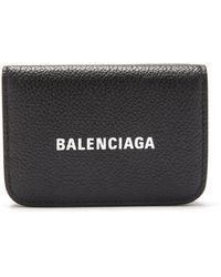 Balenciaga キャッシュ グレインレザーウォレット - ブラック