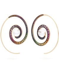 Noor Fares - Spiral Moon Rainbow Earrings - Lyst
