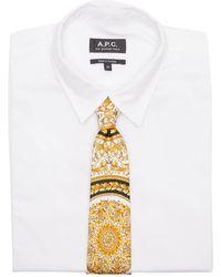 Versace Cravate en soie imprimé Barocco - Métallisé