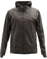 Veilance Rhomb Hooded Zipped Waterproof Jacket - Black
