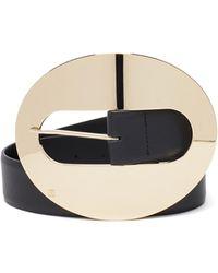 Paco Rabanne Oversized-buckle Leather Belt - Black