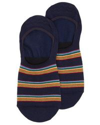 Paul Smith - Striped Cotton-blend Invisible Socks - Lyst