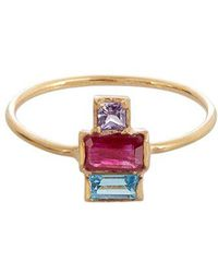 Loren Stewart - Ruby, Sapphire, Topaz & Yellow-gold Ring - Lyst