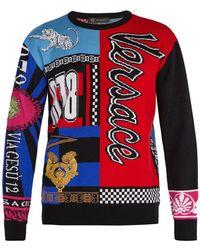 Versace - 'scarf' Sweater - Lyst