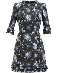 The Vampire's Wife The Mini Cate Sussex-print Cotton Dress - Multicolor