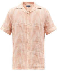 Frescobol Carioca プリント リネンボイルシャツ - マルチカラー