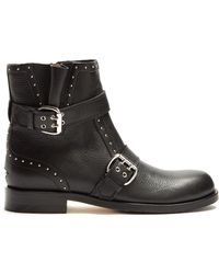 Jimmy Choo - Blyss Studded Leather Ankle Boots - Lyst