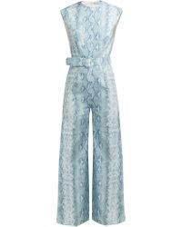 30420c109f Emilia Wickstead - Barbara Python Print Linen Jumpsuit - Lyst