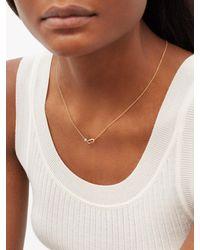 Lizzie Mandler December Birthstone Turquoise & 18kt Gold Necklace - Metallic
