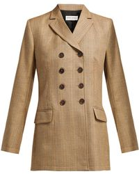 Sonia Rykiel - Double Breasted Prince Of Wales Check Wool Jacket - Lyst