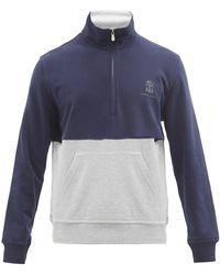 Brunello Cucinelli ロゴ コットンスウェットシャツ - ブルー