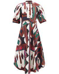 Colville Printed Cotton Midi Dress - Multicolour