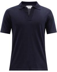 Gabriela Hearst Stendhal Cashmere Polo Shirt - Blue