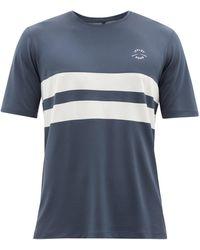 Iffley Road Durham Striped Recycled-mesh T-shirt - Blue
