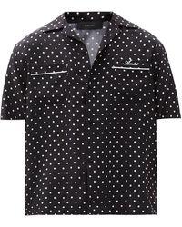 Amiri Polka-dot Silk-twill Shirt - Black
